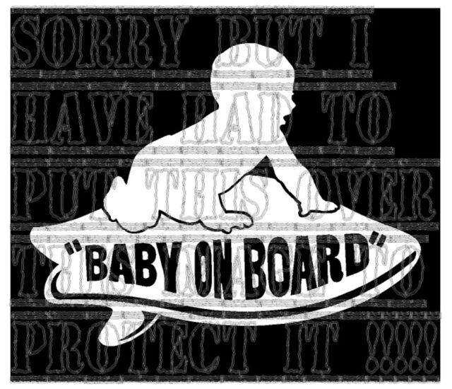 Baby On Board Boys Vans Surfboard Surfer Surfing Sticker