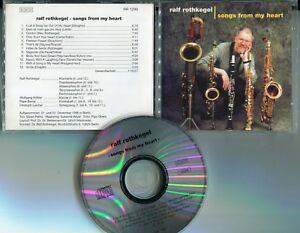 Ralf-Rothkegel-CD-CHANSONS-DE-MY-HEART-1996-Enregistrement-Berlin-JAZZ