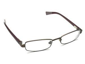 193289dcf2e Image is loading NIKE-8031-259-Gunmetal-amp-Maroon-Rectangular-Eyeglasses-