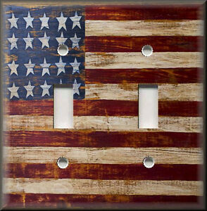 Light Switch Plate Cover Rustic Primitive American Flag
