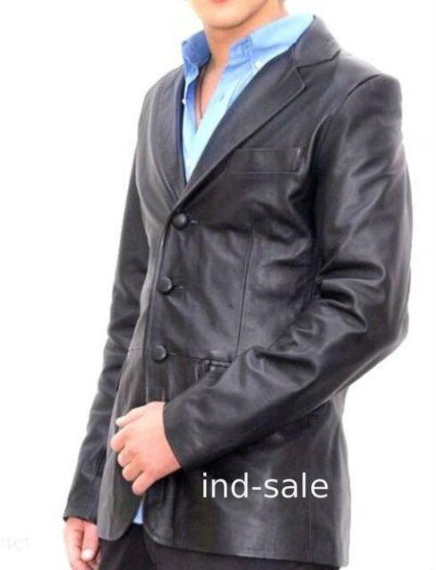 Genuine LEATHER JACKET EDH Custom Made Blazer Tailor Nice Exclusive Designer