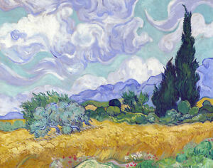 Wheat-Field-With-Cypresses-by-Vincent-Van-Gogh-Oil-Painting-Canvas-Reproduction