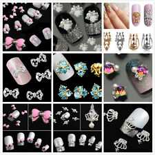 Charm 10pc 3D Hollow Nail Art Alloy Tips Decoration Jewelry Glitter Rhinestone #