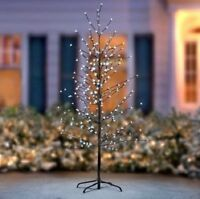 6 Foot LED Christmas Tree Twig Tree Flower Blossom Pre-Lit Christmas Decor