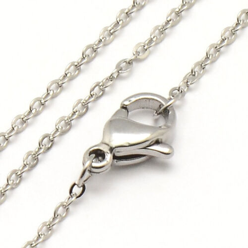"""BULK 10 Stainless Steel Necklace 18/"""" Cross Chain necklace 1.2mm N111"""