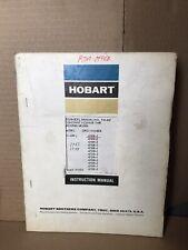 Hobart Tm 427 Technical Manual Constant Voltage Rectifier Welder Rc 600