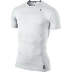 Details zu Nike Pro Combat Dry Fit White Core Compression Short Sleeve Shirt S XL