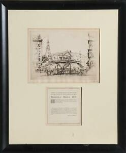 Customized model Fish Original Etching signed by artist