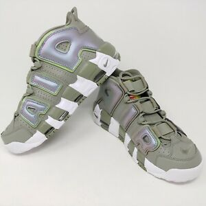 79f8d233db Image is loading Nike-Air-More-Uptempo-Shine-Iridescent-Green-Stucco-