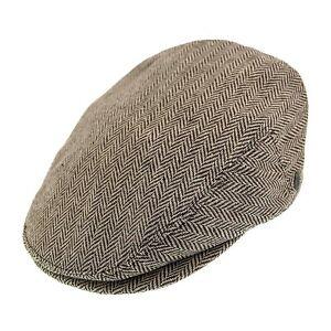 Image is loading Jaxon-Brown-Herringbone-Wool-1920s-Peaky-Blinders-Style- c9328a57f8c