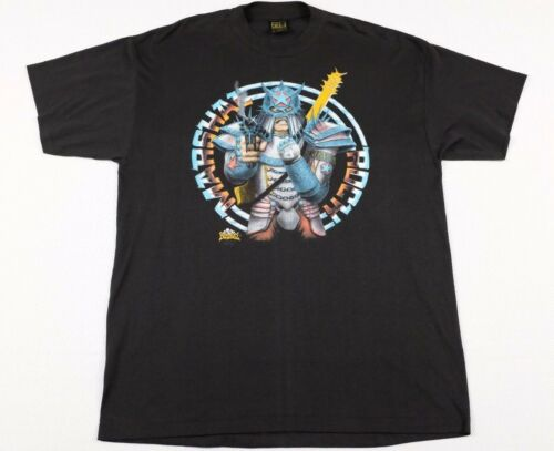 Vtg Marshal Rock T-Shirt XL Rock & Rule Movie chea