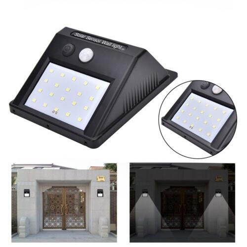 20 LED Solar Power IR Motion Sensor Wall Light Outdoor Waterproof Garden Lamp BR