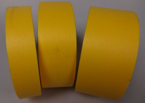"""Case of 1/"""" or 2/"""" x 60yds Yellow Masking Tape USA Made BLEMS 1 1//2/"""""""