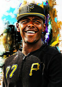 2021 Ke'Bryan Hayes Pirates Baseball 1/25 Art Yellow ACEO Print Card By:Q