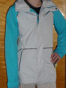 Burton-Prowess-Jacket-Womens-Snowboard-Ski-10k-Waterproof-Shell-S-Gray-Blue-220