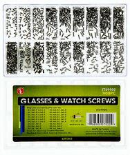 Glasses/Watch Repair Screws - Plastic Box, 900 Pc