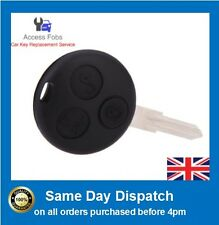 NEW 2 x SMART Car Fortwo Forfour City Roadster 3 button FOB REMOTE KEY 433MHz