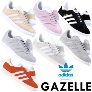 Details about Adidas Originals Womens Gazelle Trainers Lace up Suede Casual Shoes RRP i70