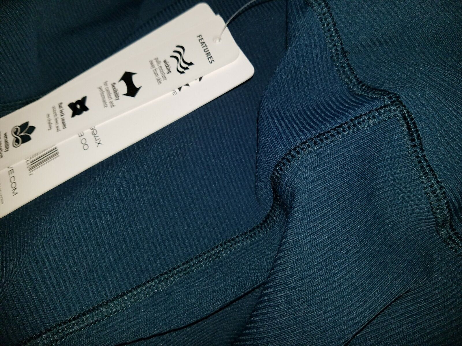 RBX High Waisted Ankle Length Leggings Teal 3X NWT MSRP: