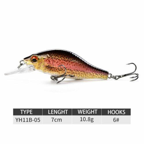 Fishing Lures Crankbait Minnow Artificial Hard Swimbait Sinking Wobbler Perch