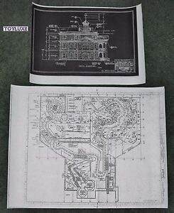 2-Disneyland-HAUNTED-HOUSE-Disney-Blue-Prints-Inside-amp-Out-Copies