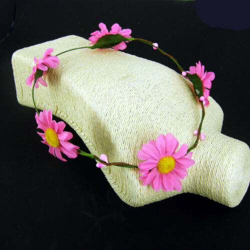 Pink Daisy Headband Hippie Boho Gig Festival Hair Garland Pink /& Yellow Flower