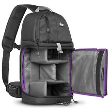 Camera Sling Backpack Bag for Canon Nikon Sony DSLR & Mirrorless by Altura Photo