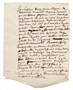 1727-LOUIS-XV-lord-manuscript-receipt-letter-with-signature