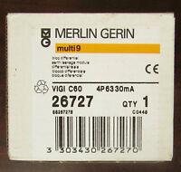 Merlin Gerin Vigi C60 4p6330ma Multi 9 26727 Earth Leakage Module
