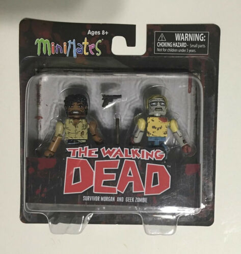 neuf sous emballage! Walking Dead Minimates Lot Ceasar Martinez /& Survivor MORGAN
