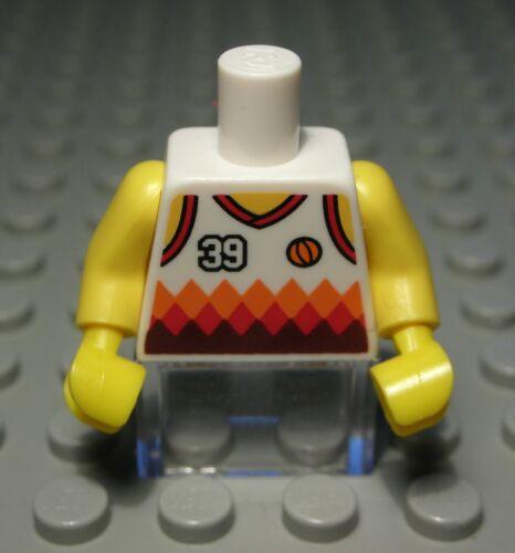 1004 LEGO Personaggio Accessori TOP BIANCO CON DECORO