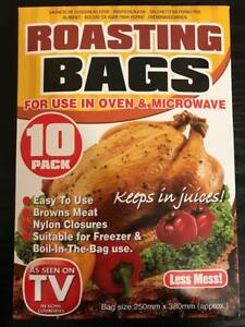 Image Is Loading 10 Pack Large Roasting Bags Oven Microwave Cooking