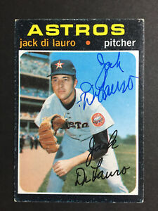 Jack-DiLauro-Astros-Signed-1971-Topps-Baseball-Card-High-677-Auto-Autograph