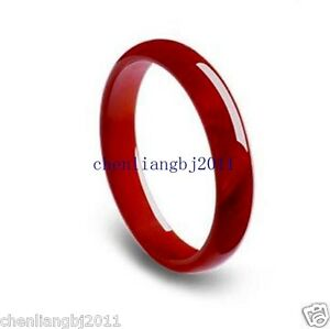 100% Natural Red Jade Chinese Bangle Bracelet 56-64mm AAAAA