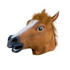 Fancy Dress Halloween Horse Head Mask Latex Animal Cosplay Party Costume