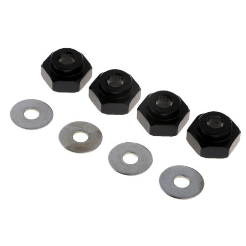 4x Acoplador Hexagonal de Ruedas 12mm a 17mm para 1//10 1//8 RC Crawler