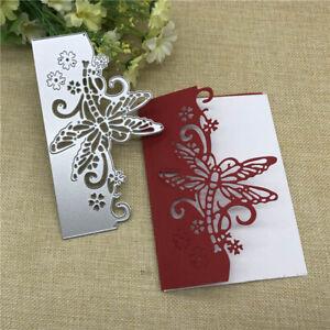 Download DIY Butterfly Envelope Greeting Card Metal Cutting Dies ...