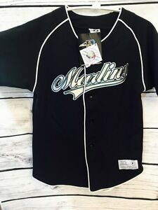 more photos 6ff78 f0c84 Details about NEW MLB Florida Marlins Jersey Castillo #1 Black Kids Youth  Large L Dynasty! #9C