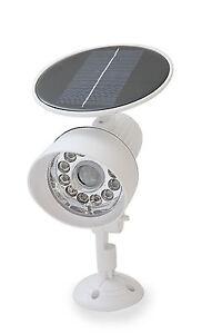 White New Solar Powered Motion Sensor Security light 12 LED Garage Outdoor