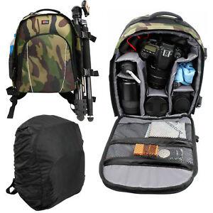 Détails sur Duragadget sac à dos Camouflage W / Réglable Intérieur &  raincover pour Nikon D750- afficher le titre d'origine