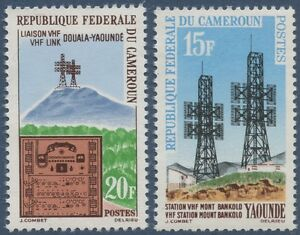 1963 CAMEROUN N°367/368** Liaison hertzienne Douala-Yaoundé CAMEROON MNH