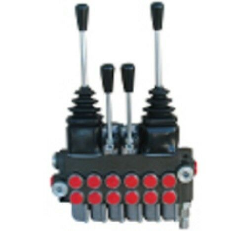 Prince Manufacturing 6 Spool Hydraulic Valve 8 GPM 2 Joysticks Tandem Center NEW