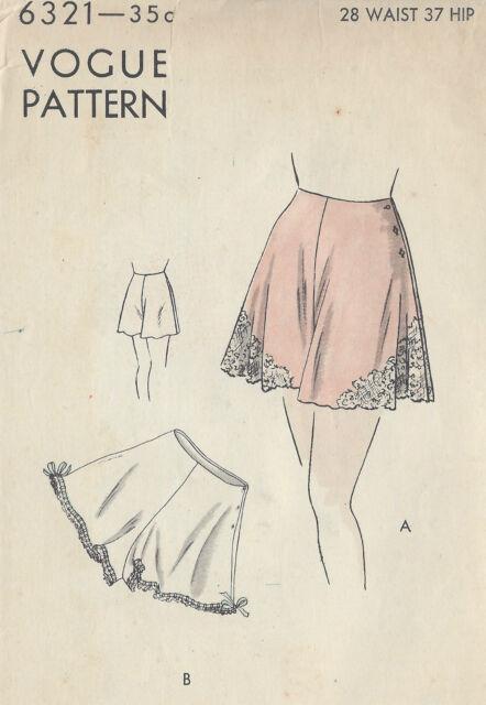 Schnittmuster Vintage 1940er Vogue Unterrock W28 R937 | eBay