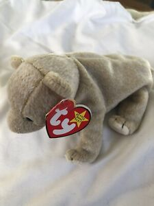 Ty Beanie Baby | Almond With Tag | Bear | 1999