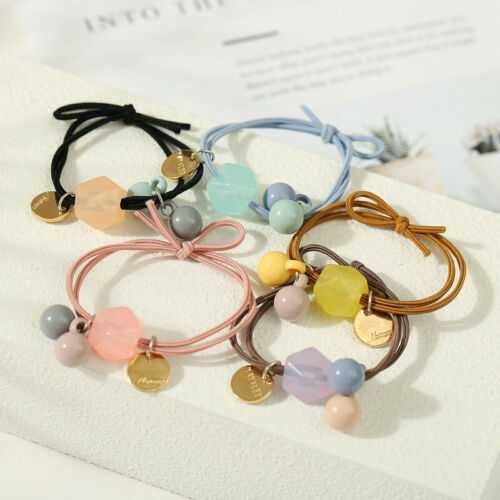 5PCS Lot Elastic Rope Ring Hairband Girls Candy Color Hair Band Ponytail Holder