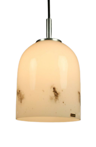 VTG-Doria-Lampe-Glas-Glocke-Neuwertig-erhalten-Leuchte-60er-70er-alt-amp-vintage