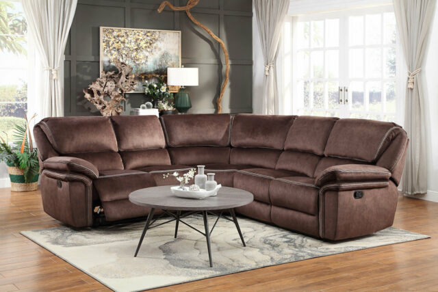 Chocolate Vinyl Reclining Sofa Set