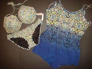 NWT Victoria/'s Secret BIKINI 32C,34C,34D,34DD,36DD MOSAIC GARDEN GREEN BLUE navy