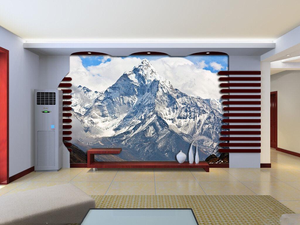 3D Snow Mountain Sky 7 Wall Paper Murals Wall Print Wall Wallpaper Mural AU Kyra