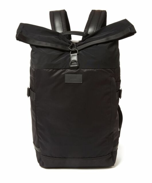 Paul Smith Bag Bnwt 531 Cyclist Cycling Black Backpack Rucksack Rrp 300